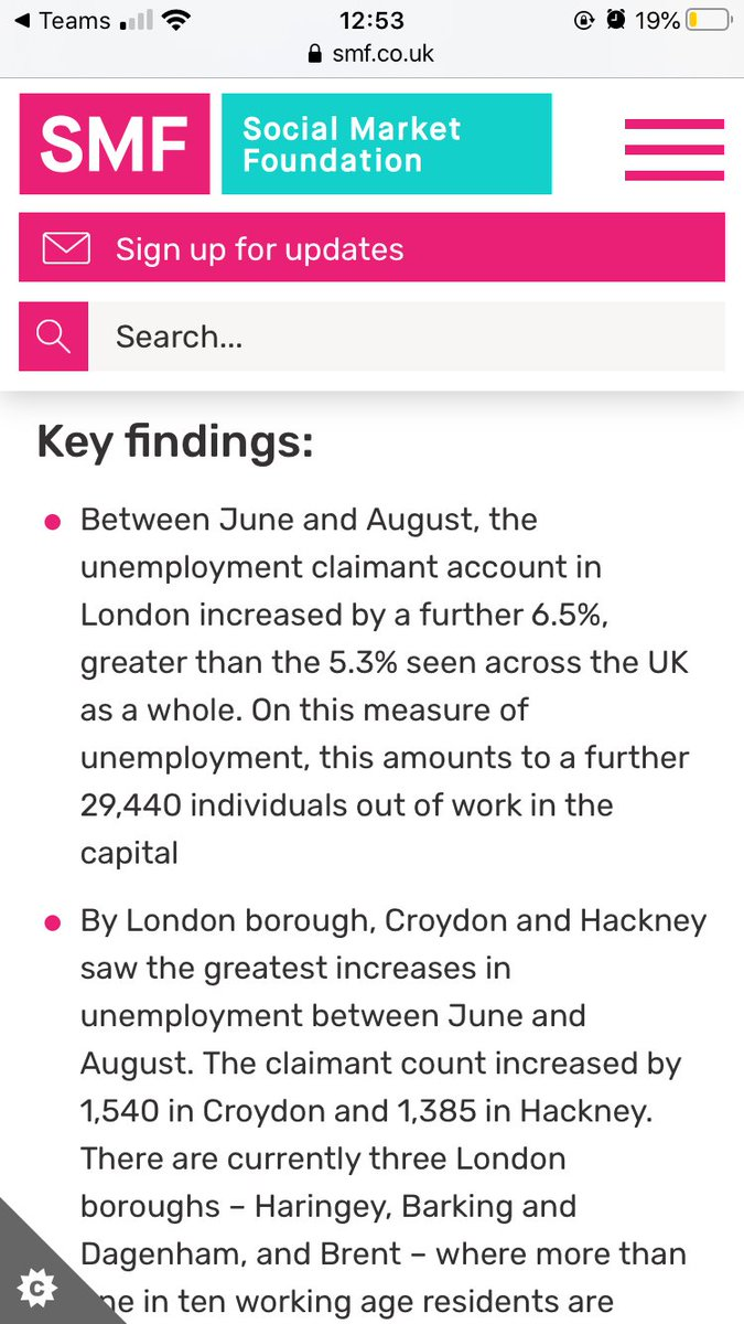"""Latest @PeabodyLDN SMF London Coronavirus Economy tracker highlights something that should be better-recognised: London, and especially low-income London, is suffering more than other places.  """"Levelling up"""" and the recovery isn't just about """"the north"""".   https://t.co/1LGqr671iB https://t.co/MrHSLGj2af"""