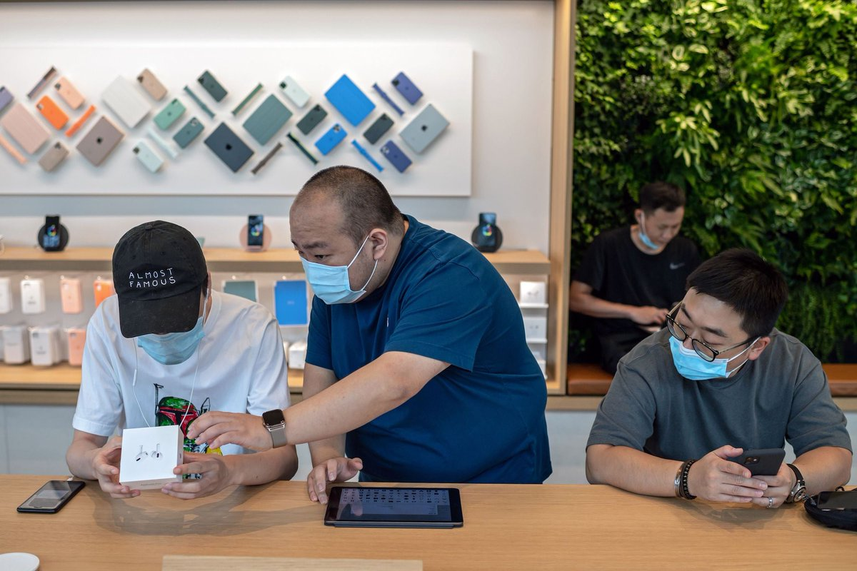 New Apple Watch and iPads go on sale – with mandatory face masks and touchless temperature checks: Apple's new watches and iPads have gone on sale, after a launch event earlier this week. https://t.co/wxvuvet4Vk https://t.co/ET2xxnft94