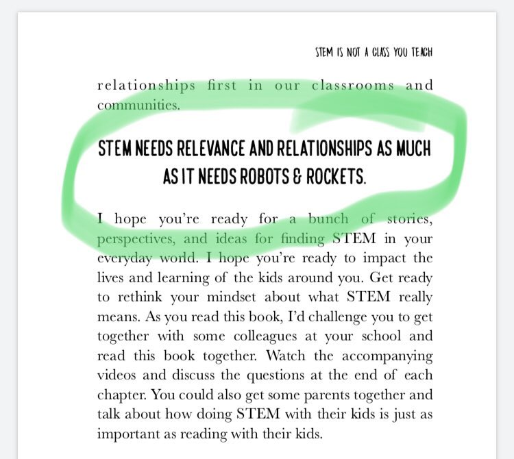 Our kids don't need #STEM because of all the cool gadgets...  They need STEM because it's filled with #collaboration & #problemsolving & real-world relevance. Via @dailystem   #CodeBreaker   From the new book #DailySTEM ➡️https://t.co/C5EoIKqvV7 https://t.co/P5jjlJOFOe