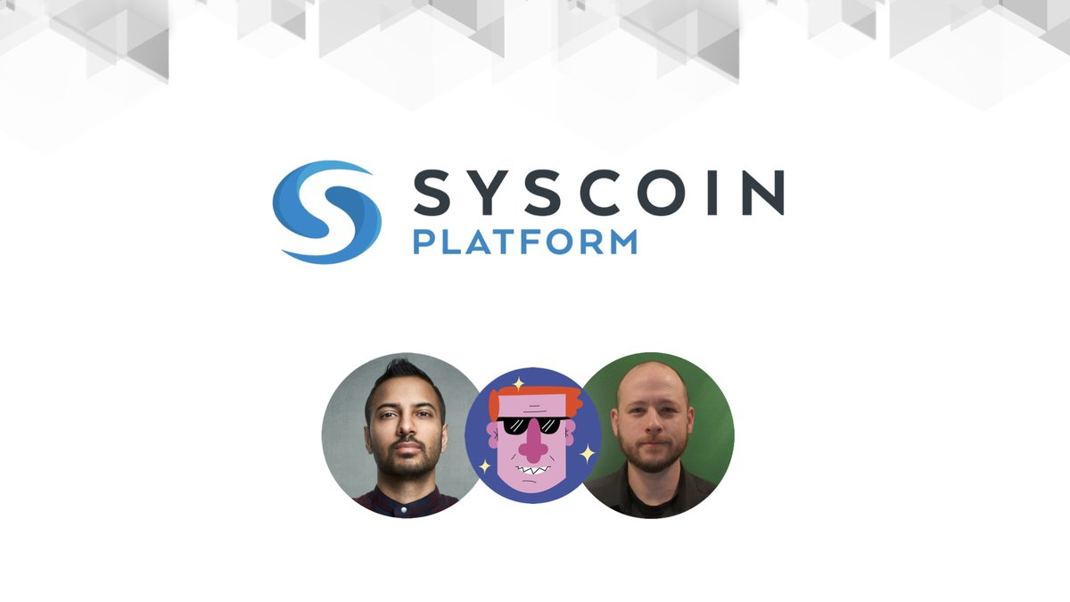 Don't miss this special Podcast next week with @Coin_Shark. @realSidhuJag and @bstr156 jumped on deck to speak about all things @syscoin and the current #crypto ecosystem. For more details join our Discord👇 https://t.co/c572WnQMdl