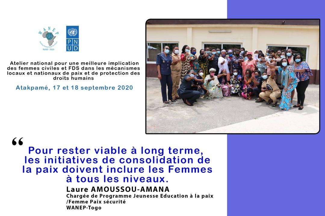 Pour rester viable à long terme, les initiatives de consolidation de la #paix doivent inclure les Femmes à tous les niveaux. @WANEP_Regional @PnudTogo @PbfTogo @ONUFemmes @DamienMama @aliouMdia https://t.co/j7f9hL5XGy