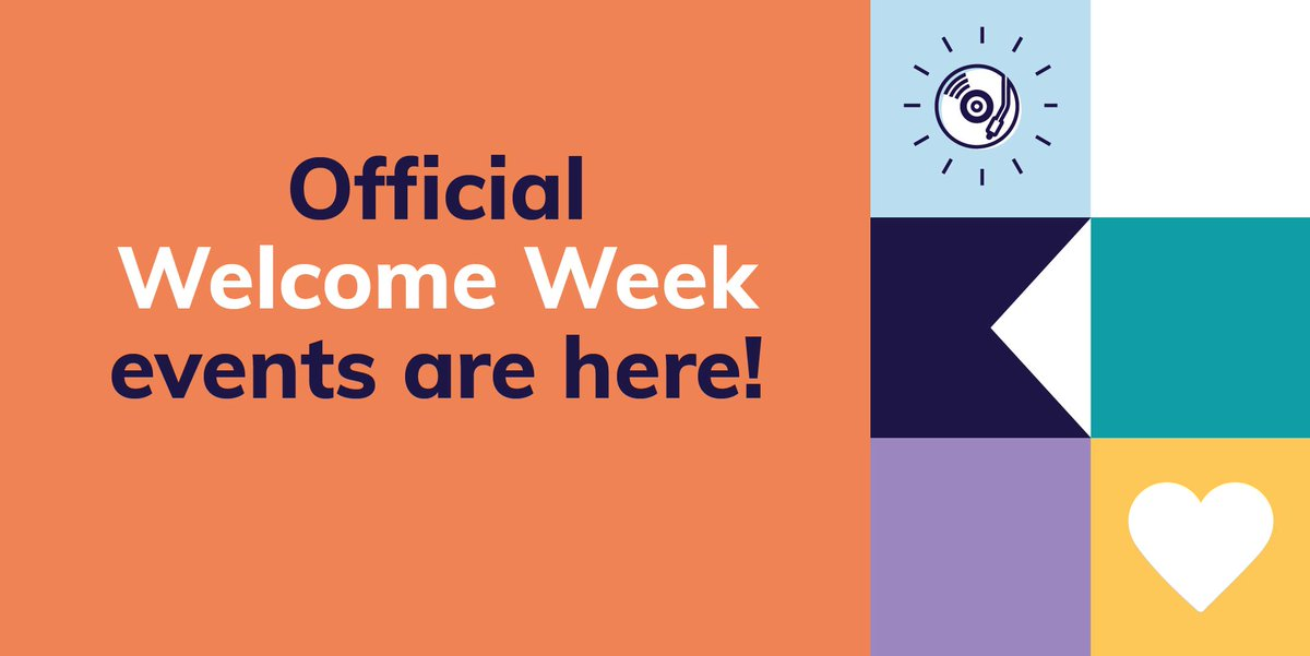 Welcome Week is nearly here 🤩   From student group try-it sessions, to virtual fairs and movie nights - there's so much you can get involved with 🎉  Get your week planned ⬇️ https://t.co/77696XSAjU https://t.co/58dsSfrcaB
