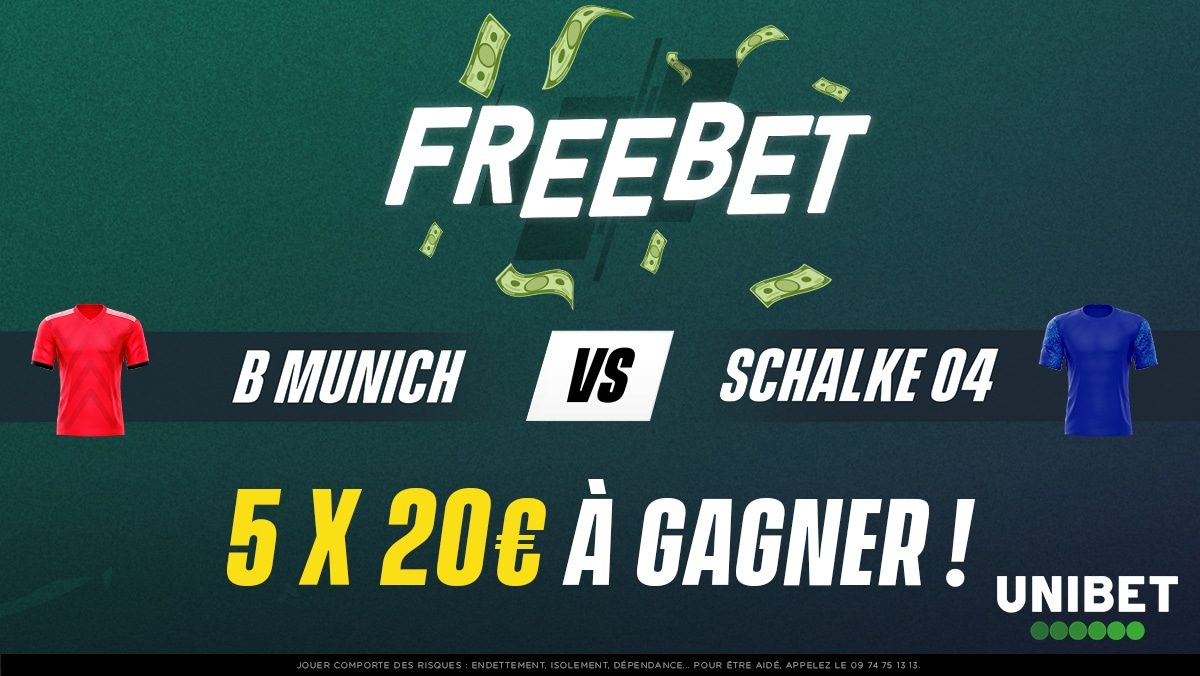 🇩🇪 La Bundesliga fait sa rentrée, l'occasion de gagner 100€ de Paris Gratuits ! 🤑 Quel sera le score exact de Bayern - Schalke 04 ?  ➡ RT + #FreebetUnibet + Pseudo.  ⏰ Fin du jeu à 20h30.  🍀 TAS samedi. https://t.co/8YdzxkovUt