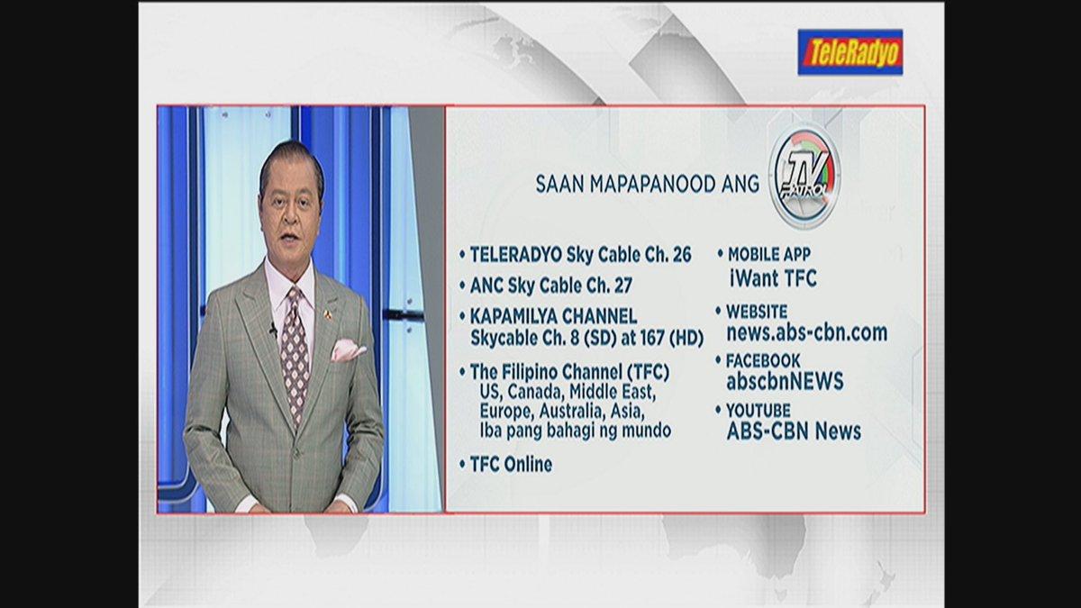 Maraming salamat sa pagtutok sa #TVPatrolLive