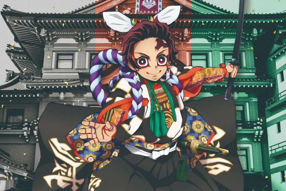 『鬼滅の刃』×歌舞伎のコラボ企画展が京都南座で開催決定、炭治郎や禰豆子らの歌舞伎衣装イラスト展示など -