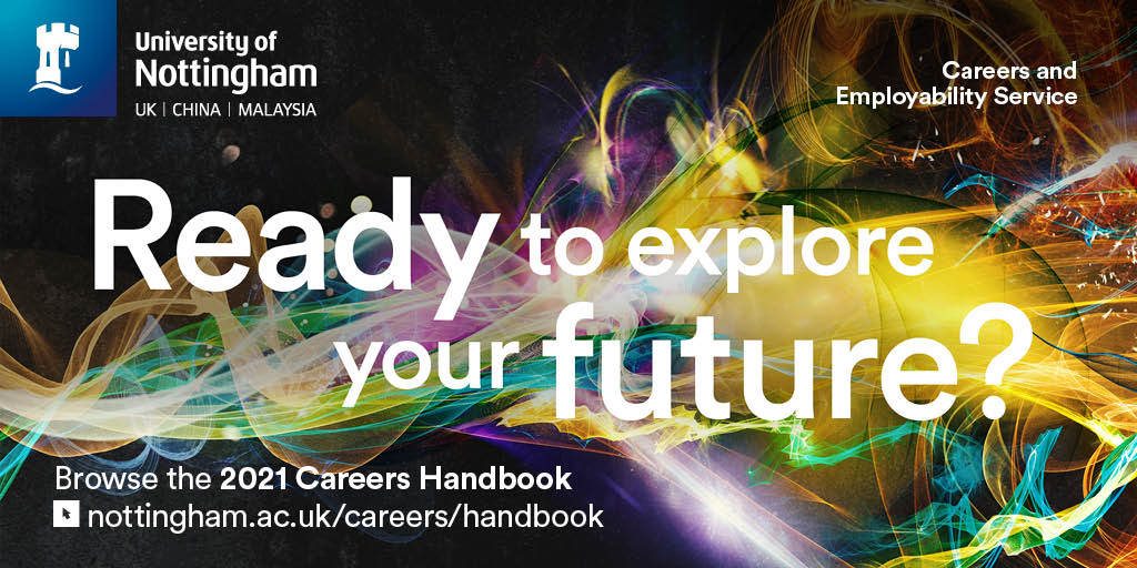 It's out! Your guide to anything and everything to do with careers! Take a look at what's on offer at Nottingham. https://t.co/pAsSqSLAhw