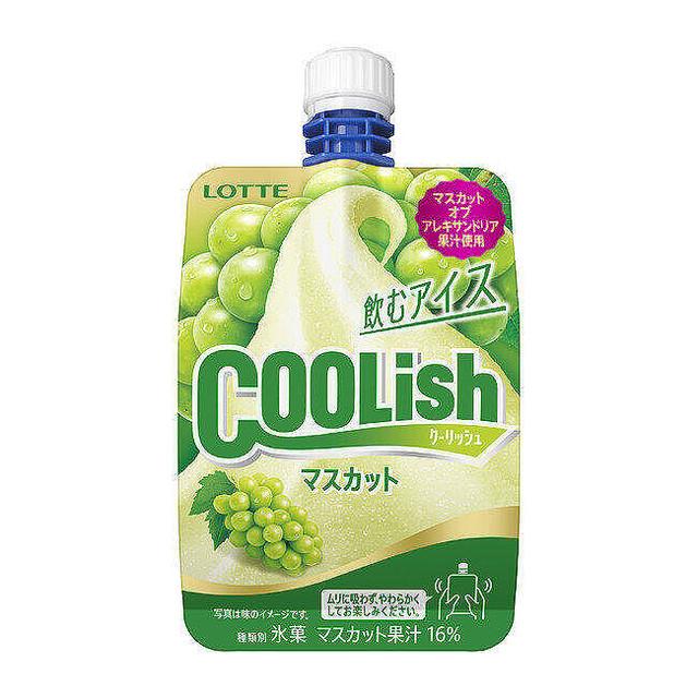 【21日より】ロッテのクーリッシュから「マスカット」登場!マスカット・オブ・アレキサンドリア果汁を使ったフレーバー。マスカットの芳醇な味わいをドリンク感覚で楽しめる。