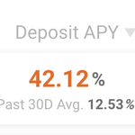 Image for the Tweet beginning: Dai deposit rate at @AaveAave