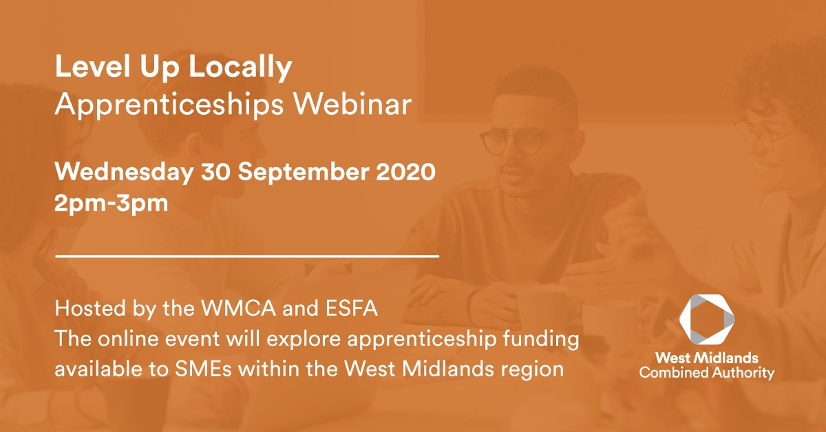 Confused about the government incentives? Join the @WestMids_CA  and @ESFAgov webinar exploring the regional support available to smaller employers👏 Get involved on Wednesday 30th September, 2pm- 3pm 💻#WMStrong #Webinar #Incentives #DreamBig https://t.co/deCTrbJJQP