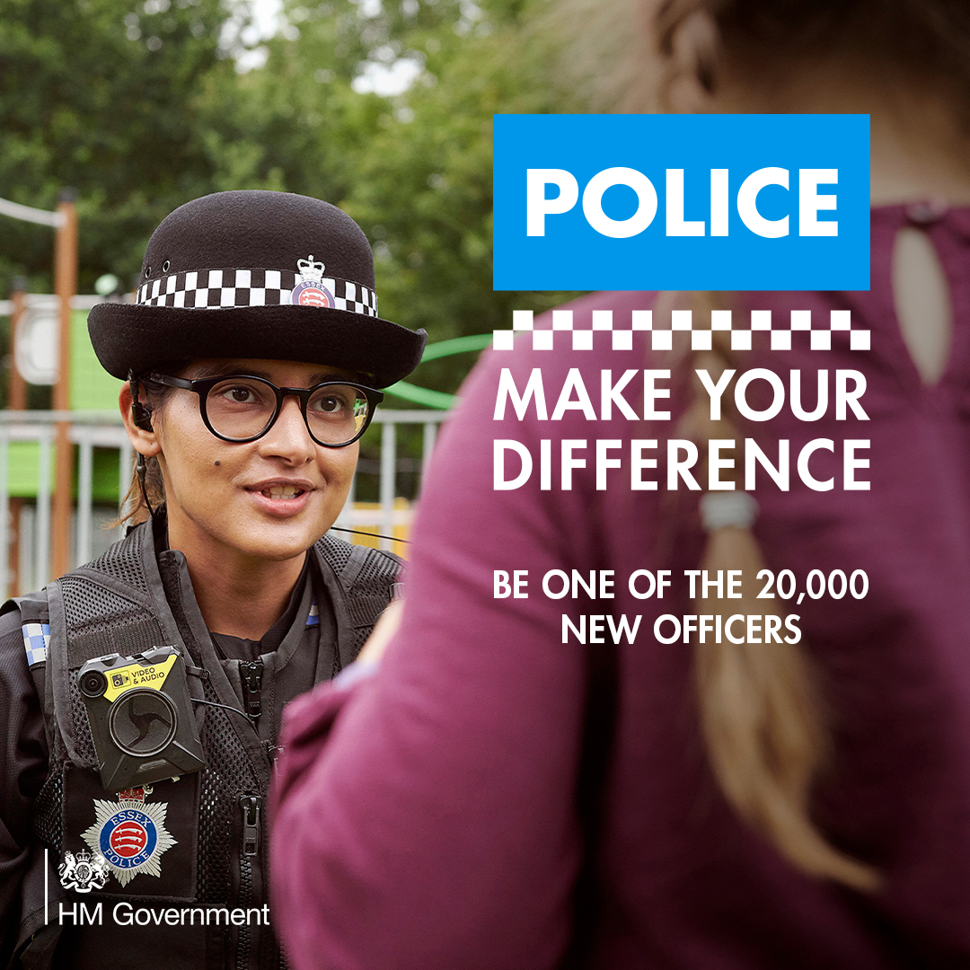 Being a police officer is an opportunity to save lives, protect the vulnerable and keep communities safe. Make your difference. Be one of the 20,000 new officers. #JoinThePolice 👉 joiningthepolice.co.uk