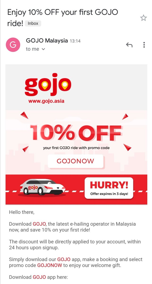 Another day, another new entrant in Malaysia's ride-hailing space. Now, where the hell they got my personal email to send me this 😑 https://t.co/iZf0Up6hXY