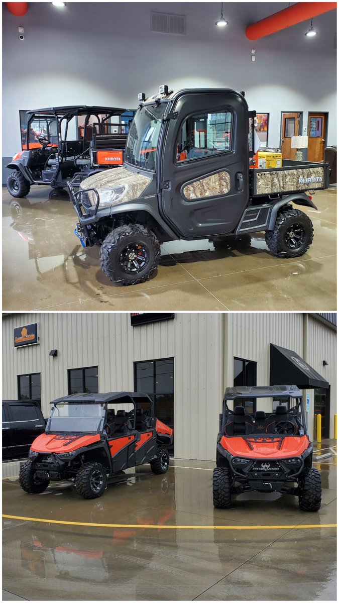 Cumberland Tractor has a great selection of side by sides from Kubota and @IntimidatorUTV! Come check them out today! #cumberlandtractor #kubota #intimidatorutv #kubotartv #rtv #utv #sidebyside #fayettevillenc https://t.co/IB0vAFZP6i
