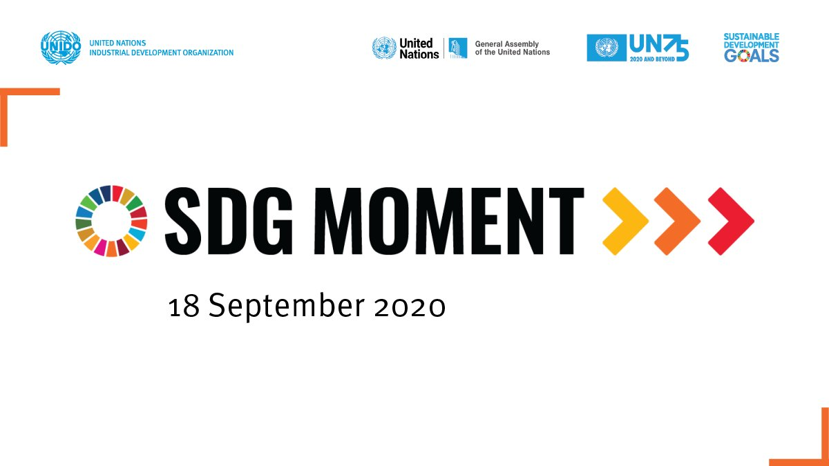 📺🔴 #SDGmoment is NOW LIVE!  Hear about the #GlobalGoals progress today & the @UN  vision for the #DecadeofAction & recovering better from #COVID19!  Watch the #UNGA75 events here ▶️ https://t.co/kQ7MZx5ncF  Find details about #UNIDO engagement ▶️ https://t.co/RukrUJfoHL https://t.co/kUCyidw4tY