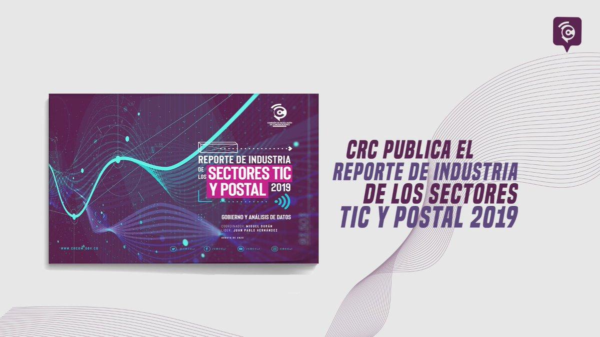 Publicamos la novena versión del reporte de Industria de los sectores TIC y Postal 2019 #ReporteTICyPostal, en donde podrán encontrar un resumen conciso de los sucesos más importantes de la industria en el año 2019  https://t.co/KtIOwj7Au0 https://t.co/HEQScs4dbb