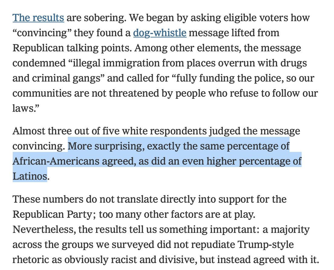 This is *the* thing that (mostly white) college educated liberals need to understand about politics today. nytimes.com/2020/09/18/opi…