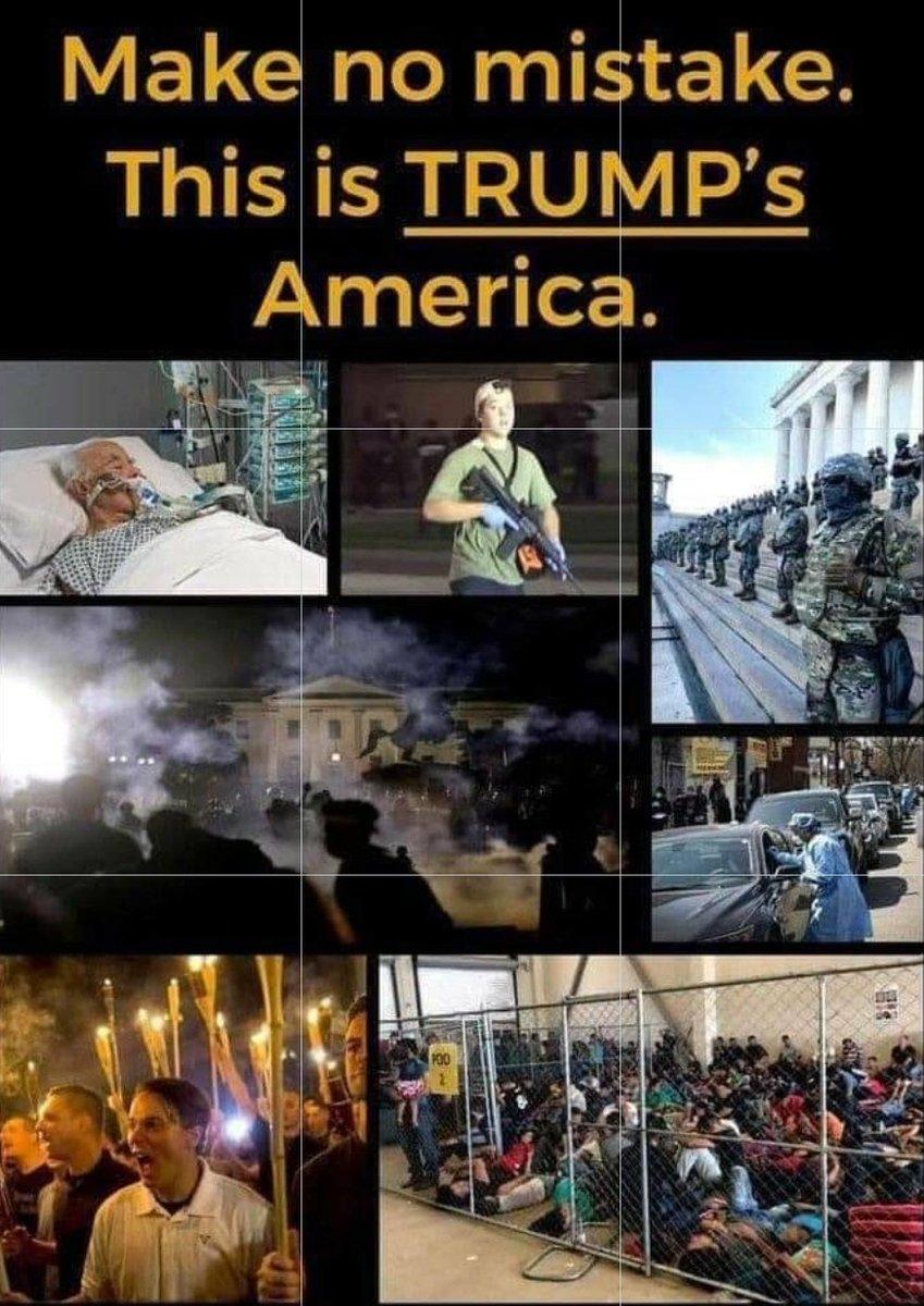 @realDonaldTrump #wickednation #DivisiveDon #trumpsamerica #UnderTrumpsWatch #TrumpFailedAmerica #COVID19  #TrumpKnewAndDidNothing #6MillionCases #TrumpDeathToll197K #Unemployment #homelessness #protests #riots #looting #whitesupremacists #AmericaBurning #UnfitToLead #VoteBlueToEndThisNightmare https://t.co/h740yQIE28