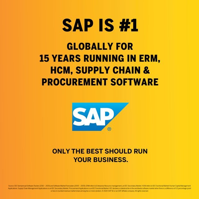 More than 440,000 customers rely on SAP. How can we help you today? https://t.co/YtCyC0ar1B https://t.co/Y4jmcGTScr