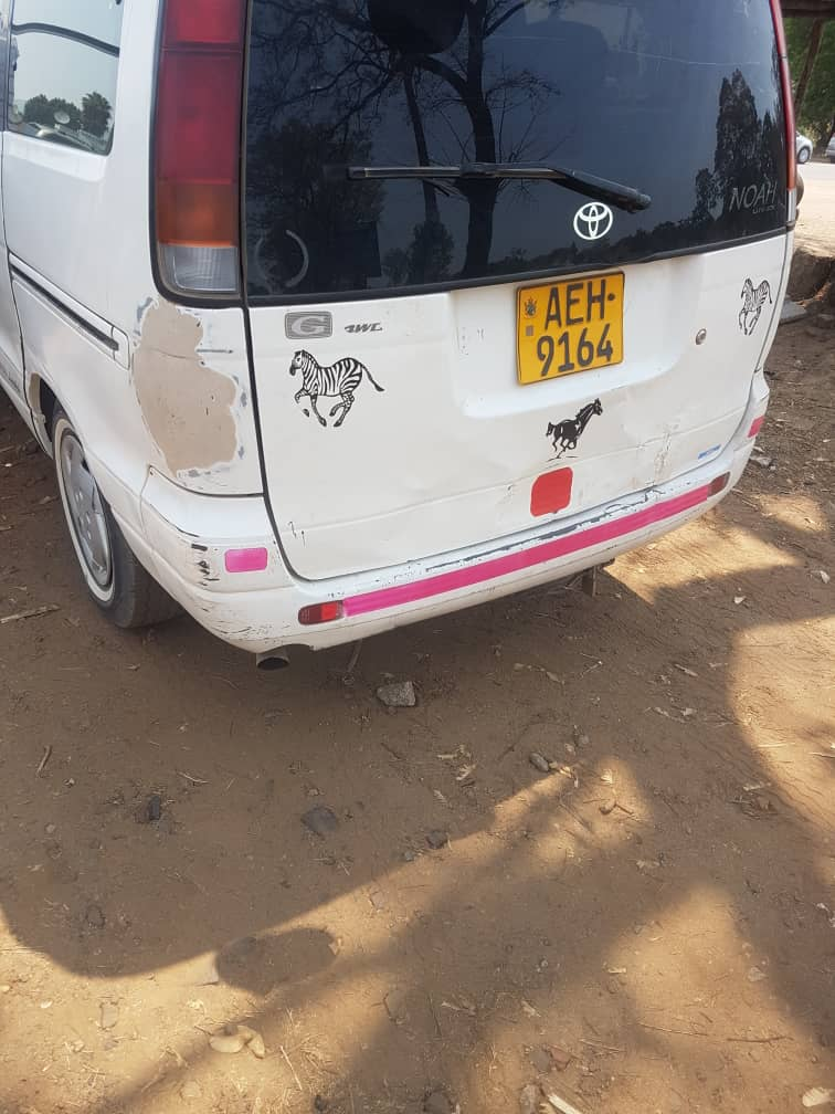 The Toyota Noah used by State thugs to abduct @ngadziore was first spotted outside @impalacarrental at 10:37am before the student activists were on the premises. More than 15 armed Police officers were also later dropped off. It is clear GoZ is protecting Impala not the victim.