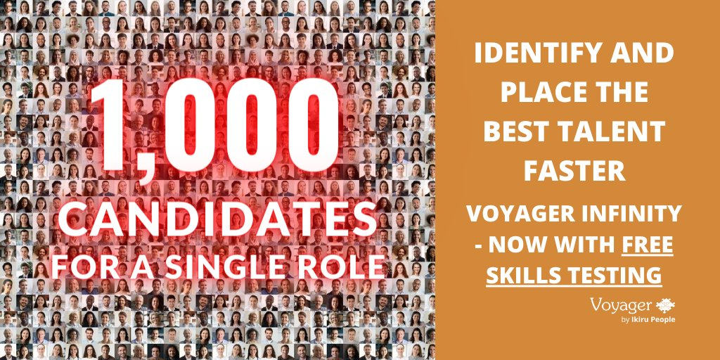 This seems extreme, but 1,000 candidates have been reported to apply for 1 position. To help #Recruiters agencies deal with the rise in applications, Voyager Infinity #Recruitment #CRM offers FREE #Skills Testing - book your demo: https://t.co/7xKByfjv6q https://t.co/tSUXo7QtG2