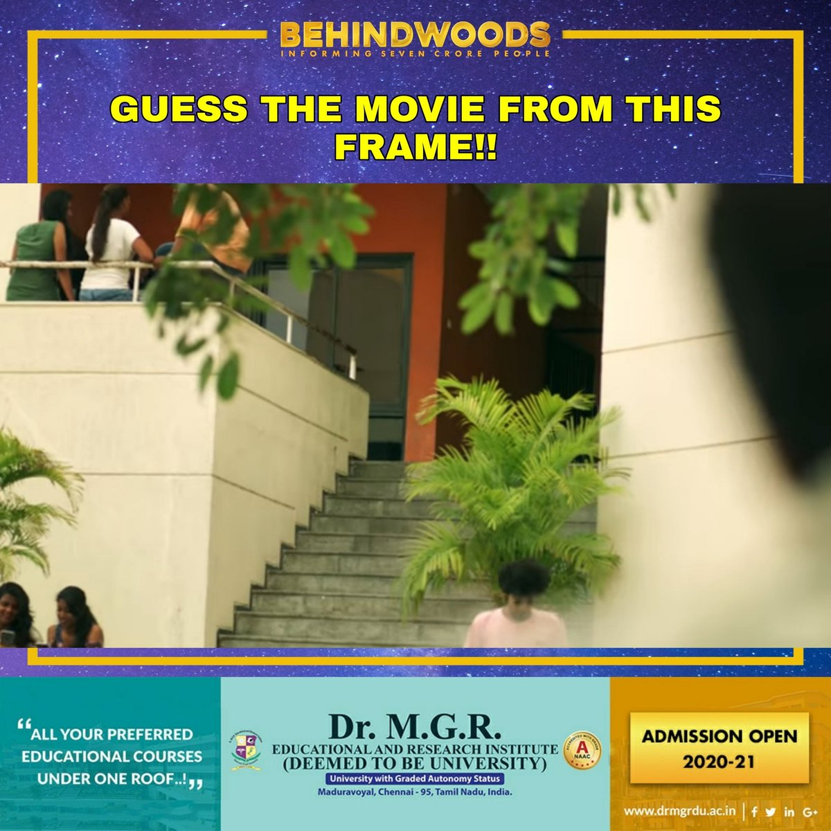 Enna padam ithu?🎬🎥  #Frame #Movie #QuarantineTimepass #BehindwoodsPuzzle https://t.co/c7qXOlN3og
