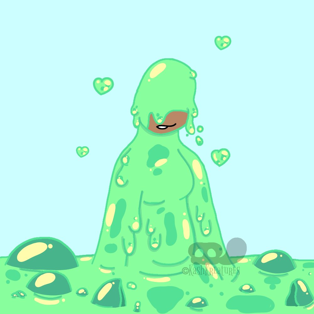My two favorite slime girls, the mint colored ones actually my slimesona and recently changed colors. What can I say? Got a thing for slime ^w^ #slimegirl #slime #OC #cute #digitalart #artistsontwitter https://t.co/eWcooKpoYE