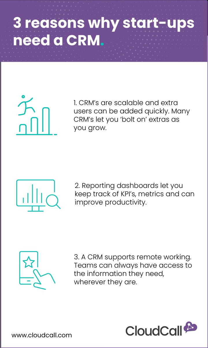 Start-ups want to grow and a CRM system can help you do just that. Find out more in our infographic https://t.co/4SjllT1QUQ https://t.co/cKRSlemqcj