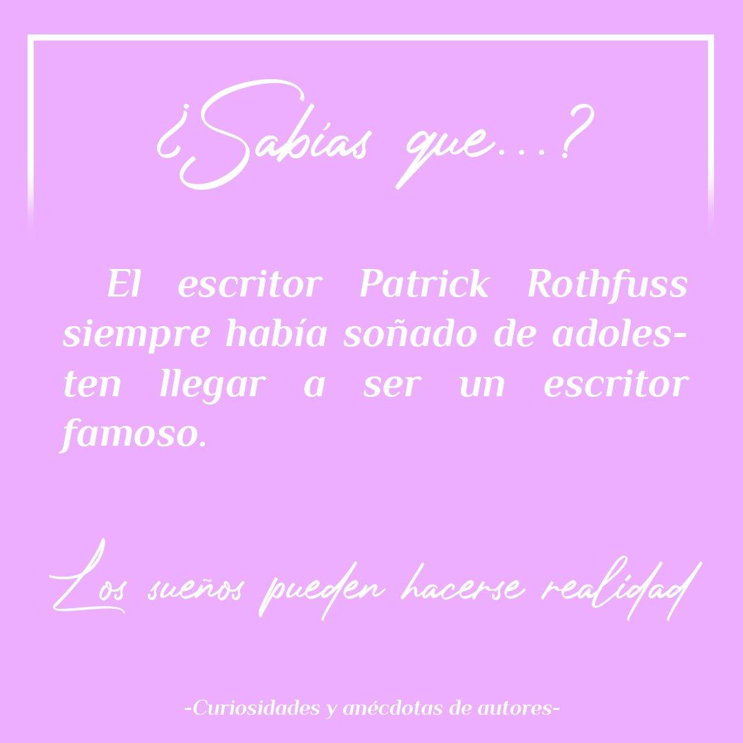🤓¿𝕊𝕒𝕓í𝕒𝕤 𝕢𝕦𝕖...?📚 Esta vez le toca a Patrick Rothfuss, ese escritor que no quiere finalizar nunca su trilogía. Yo, con toda la sinceridad, creo que nos quedaremos con ganas de saber el final. ¿Y tú? ¿Qué opinas?  #curiosidades #autores #patrickrothfuss #fantasia https://t.co/W3i9Ylnce7