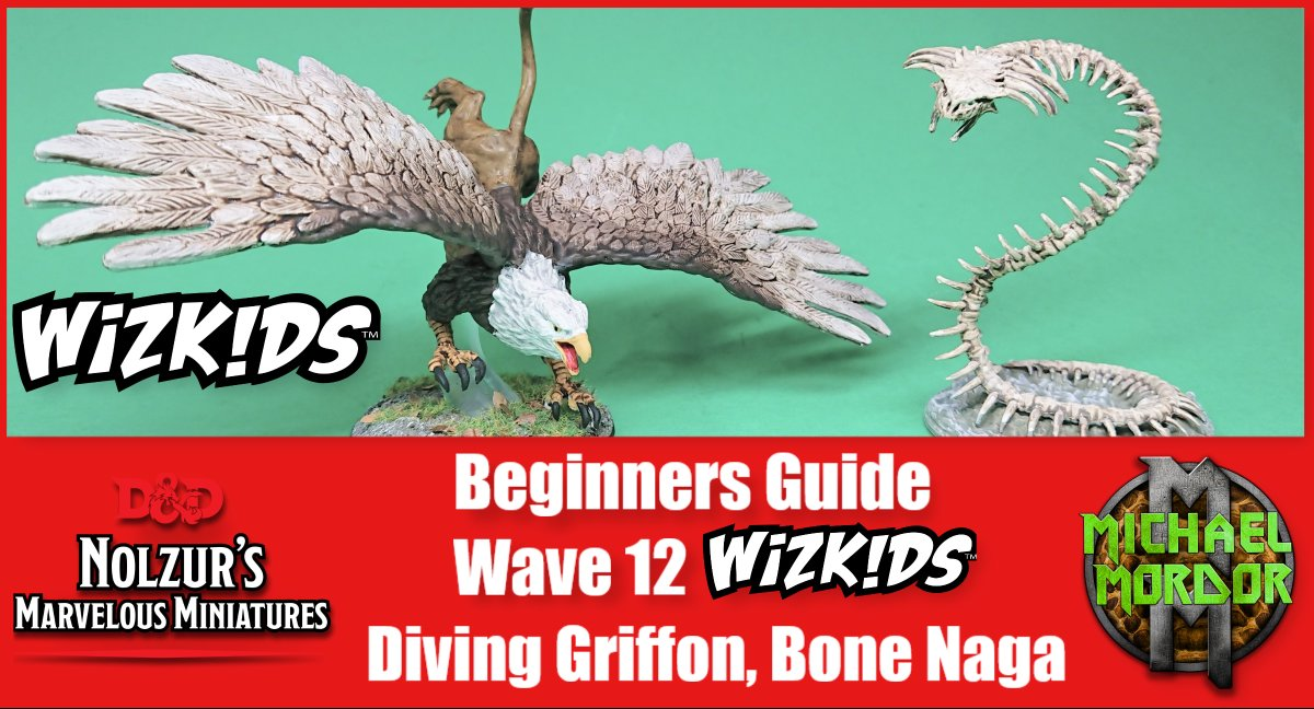 If you're looking for a how to for Wave 12 minis, go check out the latest tutorial by @Goblins_Mordor on Twitch! D&D Nolzur's Marvelous Miniatures: Bone Naga and the Diving Griffon get some color added to them and perfect for beginners! Catch the VOD here: https://t.co/Tor4VM7he3 https://t.co/az3QrPdDVD