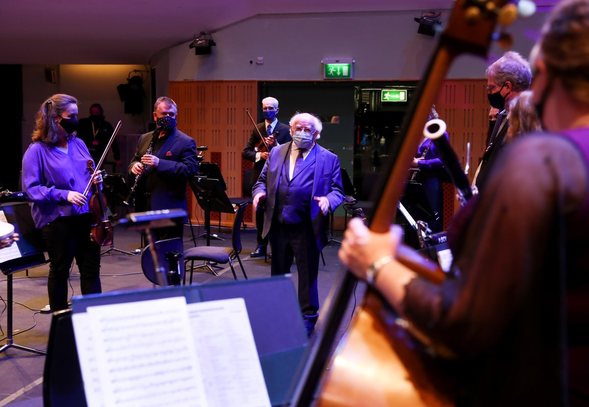 Audio:  Address by President Higgins at the 'RTÉ National Symphony Orchestra Live' virtual event.  https://t.co/PW9rpKSmWd @RTE_NSO https://t.co/S82m52VJBP