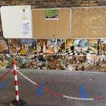Image for the Tweet beginning: Une fresque murale sur le