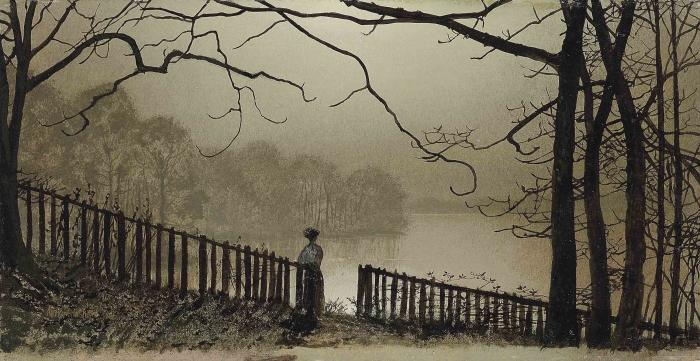 Waterloo Lake Roundhay, Park Leeds https://t.co/lKKtvy1eDX #grimshaw #englishart https://t.co/3LH1FhC1P5