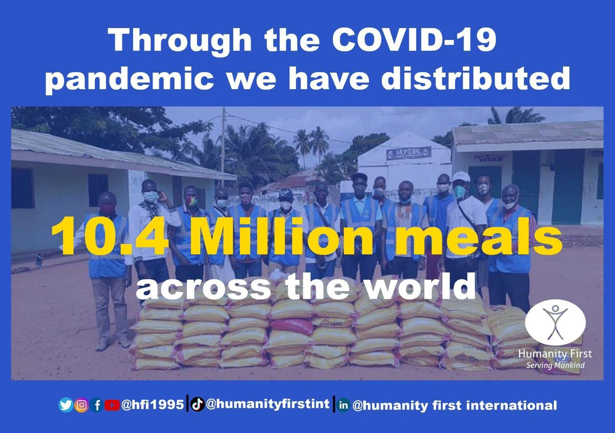 In the period of #corona and #COVID-19 #pandemic #HumanityFirst distributed 10.4 million meals https://t.co/OBjevkL3GX