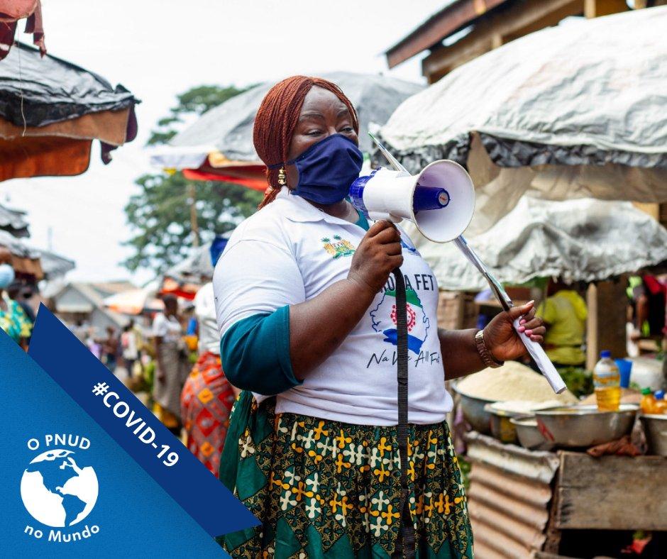 Derrotar a pandemia com #solidariedade. É assim que os 'Corona Fighters' lutam contra a #COVID19 em Serra Leoa. A iniciativa conta com o apoio do PNUD e alcança pessoas que ainda não aderiram às medidas de prevenção. Saiba mais (em inglês): https://t.co/cbSVQpOA7w. #PNUDnoMundo https://t.co/NNAyv28dUh