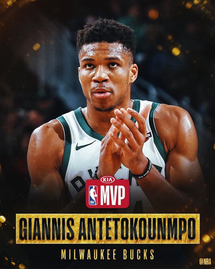 BACK-TO-BACK MVP TITLES FOR GIANNIS 🇳🇬💪🏾 https://t.co/3ZRFXe4pS1