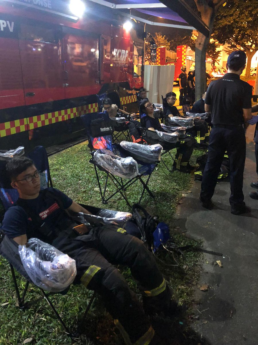 The RPV, the world's first fully integrated onsite heat injury treatment cum rehabilitation facility with purpose-built Cold Water Immersion System, was launched in late August this year. This is its inaugural deployment in a major SCDF operation. https://t.co/n7q6YZ4OuQ