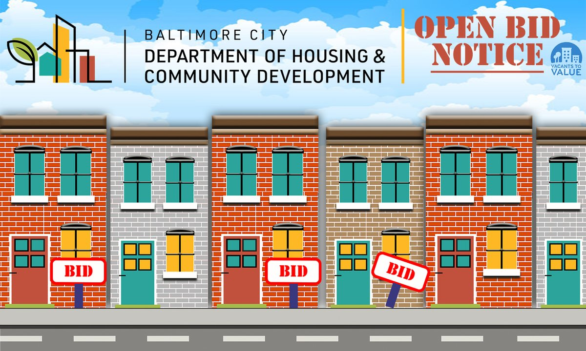 Interested in buying City-owned properties? We have some available for bid in Barclay, Central Park Heights, Coldstream Homestead Montebello, Sandtown Winchester, Carrollton Ridge, and more. Check out our inventory at https://t.co/JNRbm3PPH1. #CommunityDevelopment #MyBmore https://t.co/9TIy327DHG