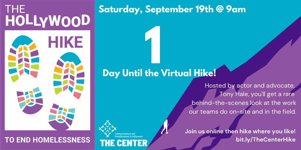 TOMORROW IS THE BIG DAY! Join @MrTonyHale for an hour of looking at the behind-the-scenes work at The Center. Afterward, hike, walk, or if the air quality is just too bad to stay inside and stay safe, Tag The Center, and use #CenterHike2020 shttp://bit.ly/THeCenterHike #Hike
