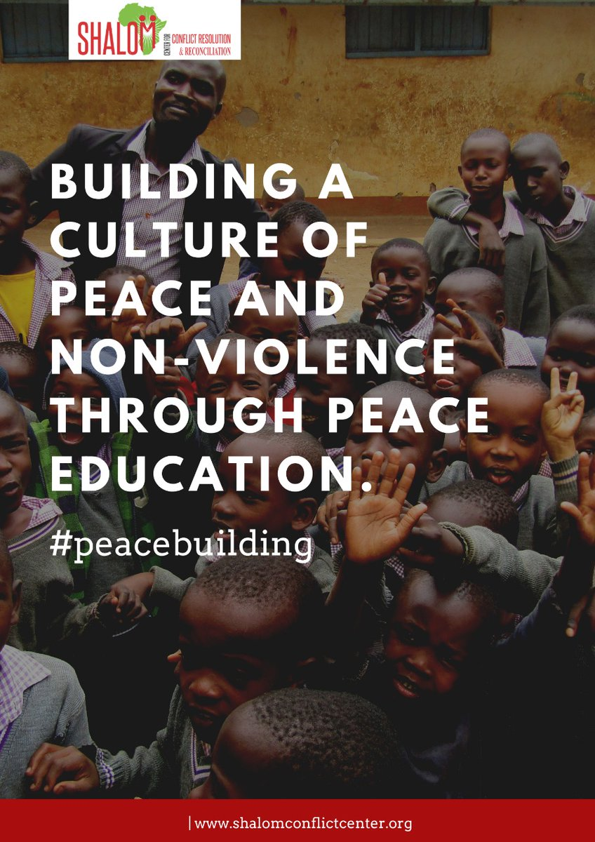 @Shalom_Center peace syllabus aims at inculcating in young people a culture of peace, hence ethnic tolerance and peaceful co-existence. #conflictresolution #sccrr #peacebuilding #peaceeducation #conflicttransformation #communitydevelopment https://t.co/L6WvGNe7b5