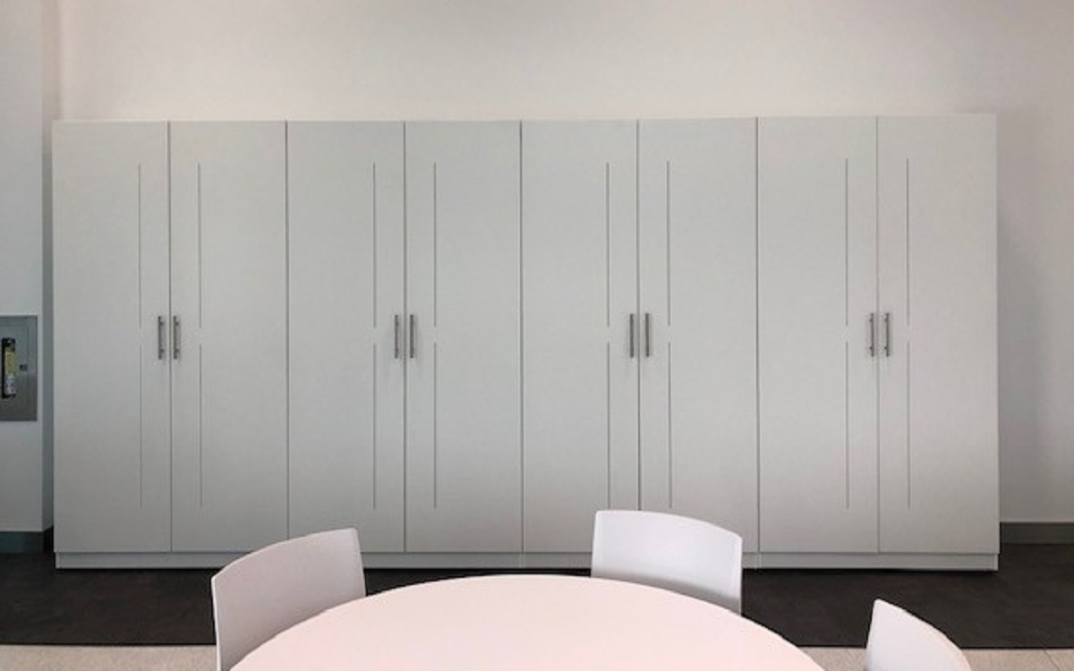 Need Storage - Why not have us build and design a  made to order custom storage unit like this one complete with air vent slots #office #officefurnture #design #designer #DesignThinking #officedesign #custom #custommade #yvr #bc #buylocal #bcbuylocal #storage https://t.co/ADB7jx4OiW