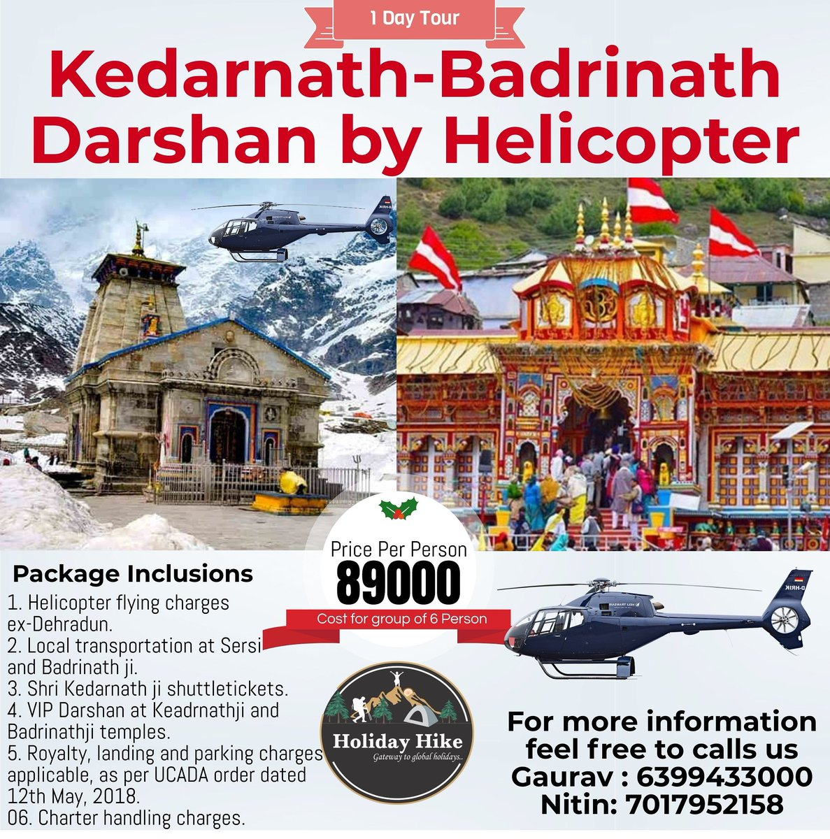 Kedarnath-Badrinath Darshan by Helicopter #Kedarnath , #badrinath, #chardhamyatra, #religioustrip https://t.co/tRAndWvwsc