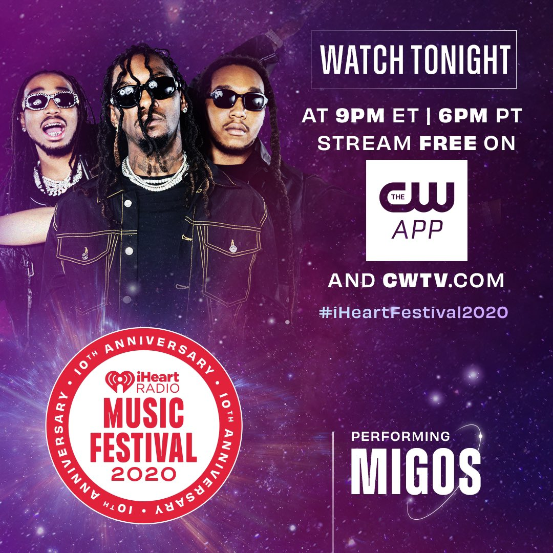 Watch our performance at the 2020 @iHeartRadio Music Festival tonight by opening @theCW app or by clicking here: https://t.co/M01zkPDsJX. #iHeartFestival2020 https://t.co/TOAu6eYnF0