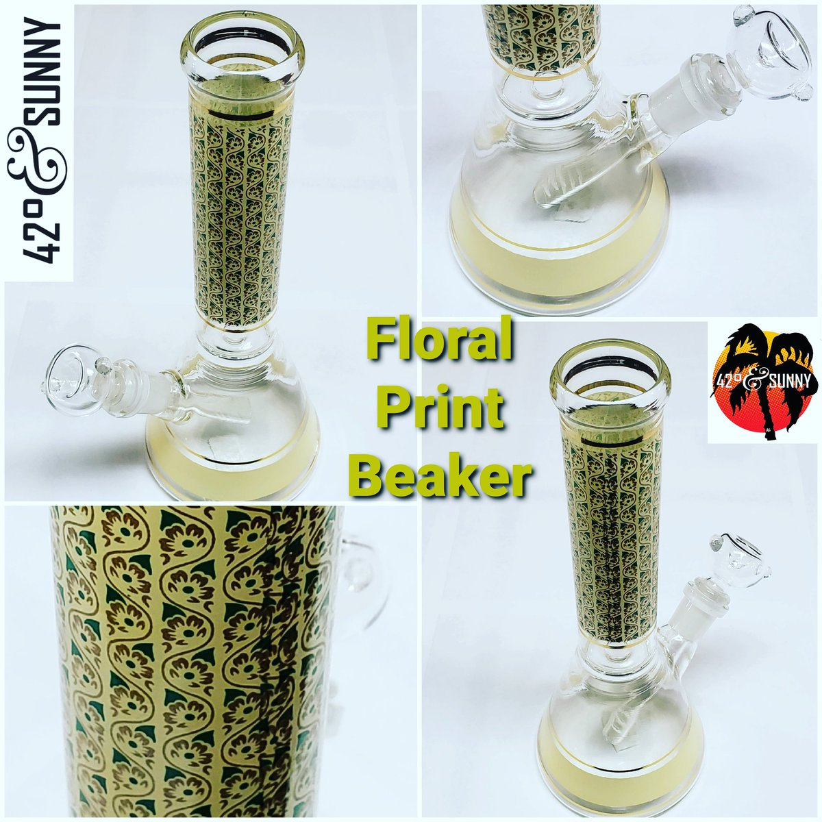 ✅ in & ✅ out the new pieces including this Floral Print Beaker!  #smokingdeals on #smokingaccessories #LakewoodNY #headshop #headshoplife #420friendly #420family #420andsunny #42degreesglass #42degreesandsunny https://t.co/uKU1GOKspH