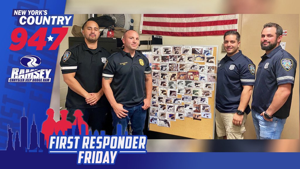 #947FirstResponderFriday - Today we honor Sgt. Arty McCarthy of the 73rd Precinct in Brownsville. Sgt McCarthy was nominated by @NYPDChiefofDept for the amazing work of him & his team. So far this year they have taken 70 guns off of the street. #NYPD Sponsored by @Ramsey_CJDR https://t.co/ZEuLdYzFqH