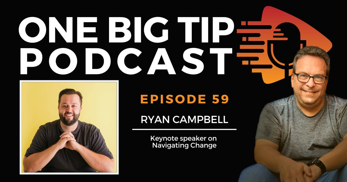 After surviving a plane crash, former pilot Ryan Campbell learned how to face challenges head-on through changing his mindset. Learn how to navigate #change and #challenges on #OneBigTip podcast episode 59 ☞ https://t.co/4OLIODm1HJ https://t.co/JnIdJp4nll