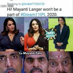Image for the Tweet beginning: #mayantilanger pans hurted 😒 #IPL2020