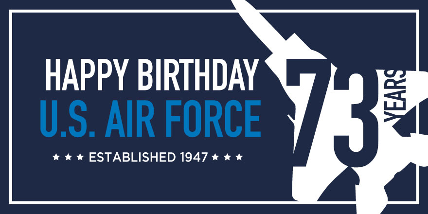 #FunFactFriday: Today marks 73 years since the #AirForce became an official branch in the US military. ✈️Happy birthday @usairforce! 🎈🎈🎈#AFBday #USA73 https://t.co/QALM8n8LkR