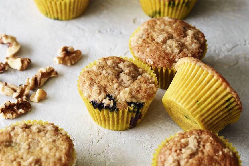 Blueberry Crumb Cakes with Walnut Streusel RECIPE: https://t.co/V60hU5kCVZ https://t.co/KT33Qgycqz