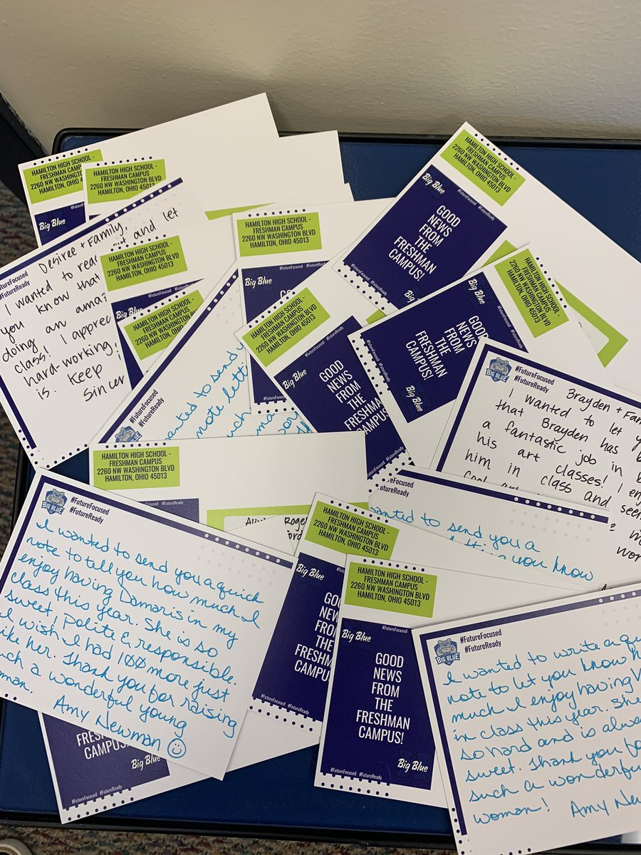 So proud of our team last night!! Staff worked hard to make connections with families to ensure success being #FutureFocused #FutureReady but also spent time writing personal letters to celebrate good news from the Freshman Campus! It's in the DETAILS!! #BigBlueOnTheMove https://t.co/B4KTK9d9od