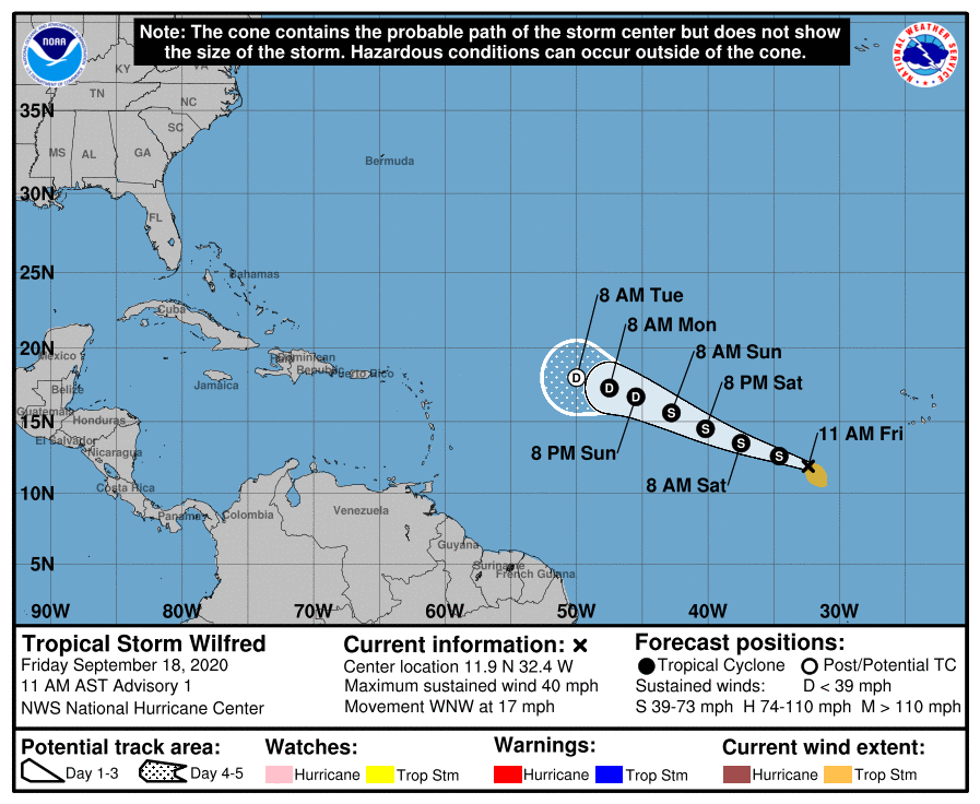 With the naming of #Wilfred in the eastern Atlantic, weve reached the end of the standard Atlantic 2020 system names list, and any subsequently named systems will use the Greek Alphabet. Get the latest at hurricanes.gov twitter.com/NHC_Atlantic/s…