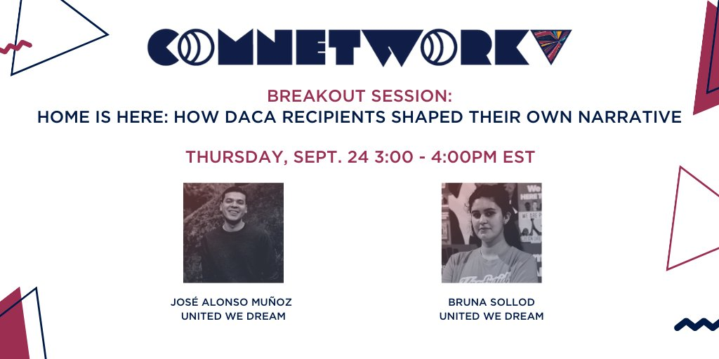 Next week!  @munozjose and @brunasollod are a powerful dynamic duo! DACA recipients themselves, our lively comms team led the narrative work that changed history and positively impacted the lives of DACA recipients across the country.   You won't want to miss this! https://t.co/Z3K7lkFZEo